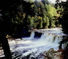 Presque Isle River waterfalls