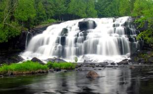 waterfalls, michigan waterfalls, bond falls